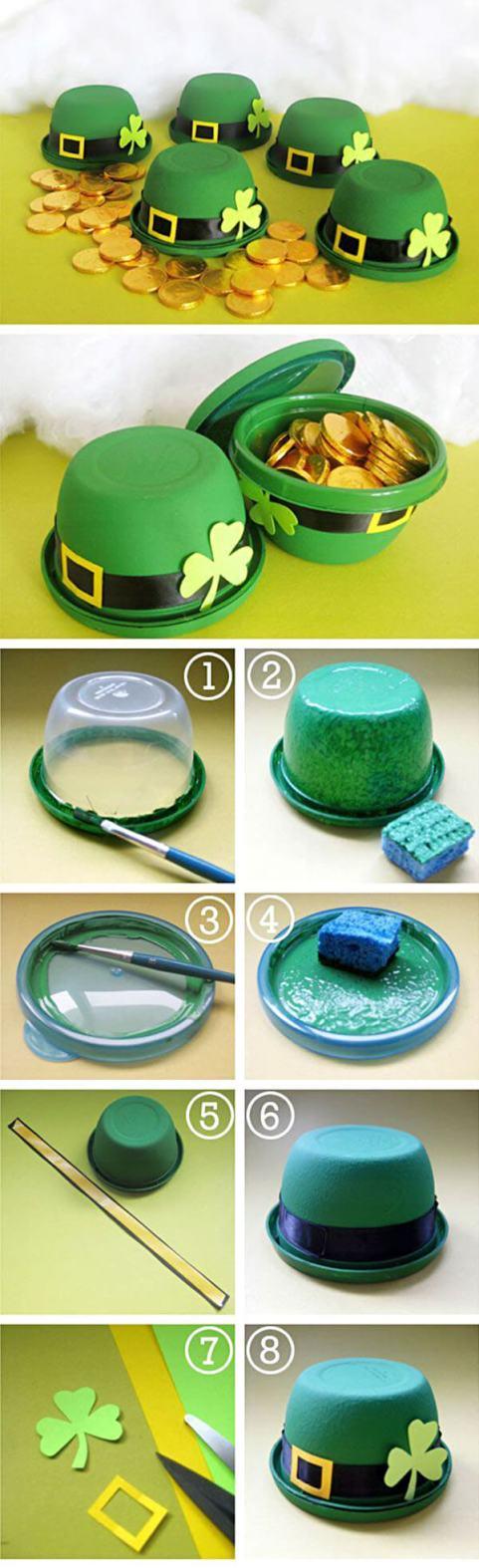 Upcycled Plastic Container Leprechaun Hat Craft