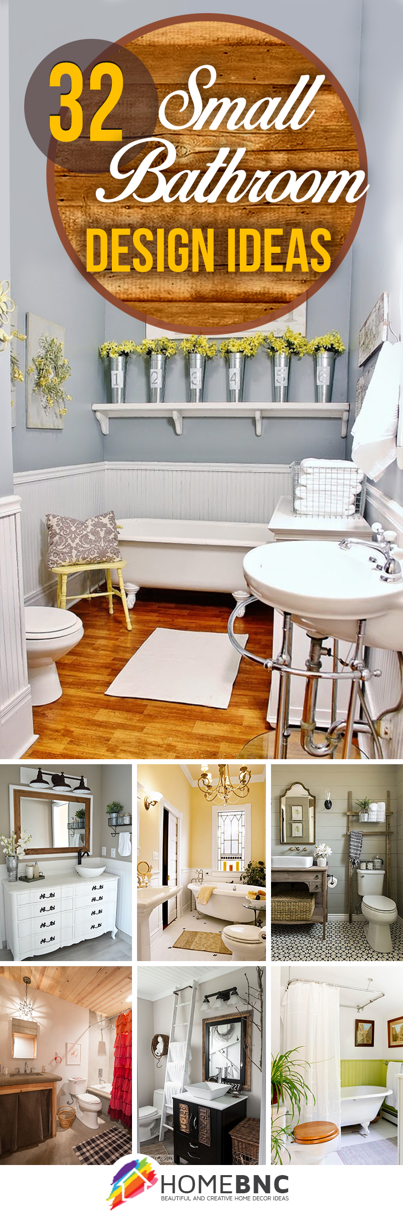 32 Best Small Bathroom Design Ideas and Decorations for 2020 on Small Bathroom Ideas Decor id=55716