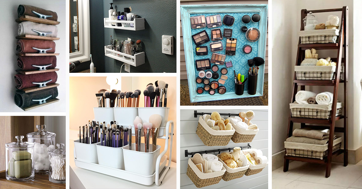 60 Best Small Bathroom Storage Ideas And Tips For 2020