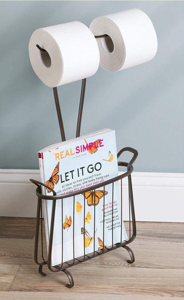 23 best bathroom magazine rack ideas to