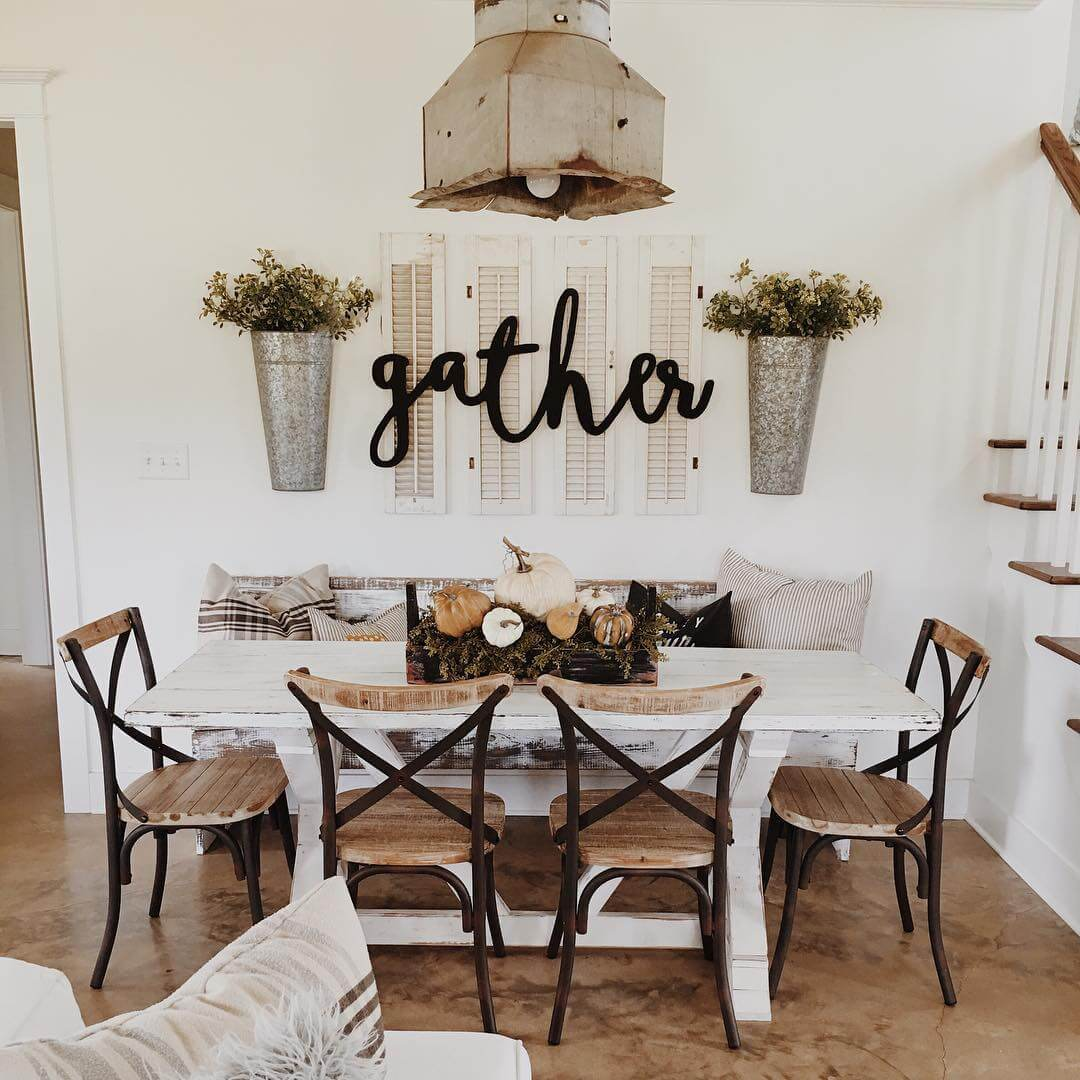 Hgtv shows how to create a chic farmhouse look and satisfy your color cravings all at the same time. 37 Best Farmhouse Dining Room Design and Decor Ideas for 2021