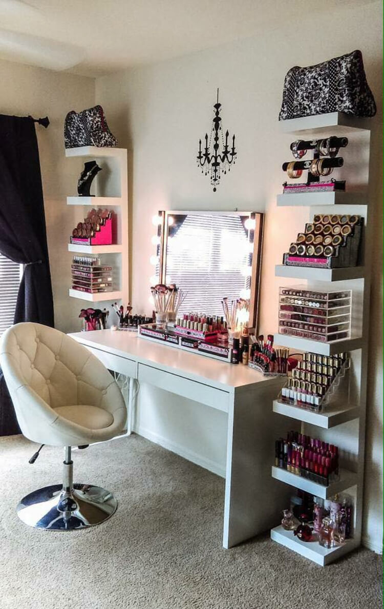 19 Best Makeup Vanity Ideas and Designs for 2020 on Makeup Room Ideas  id=84168