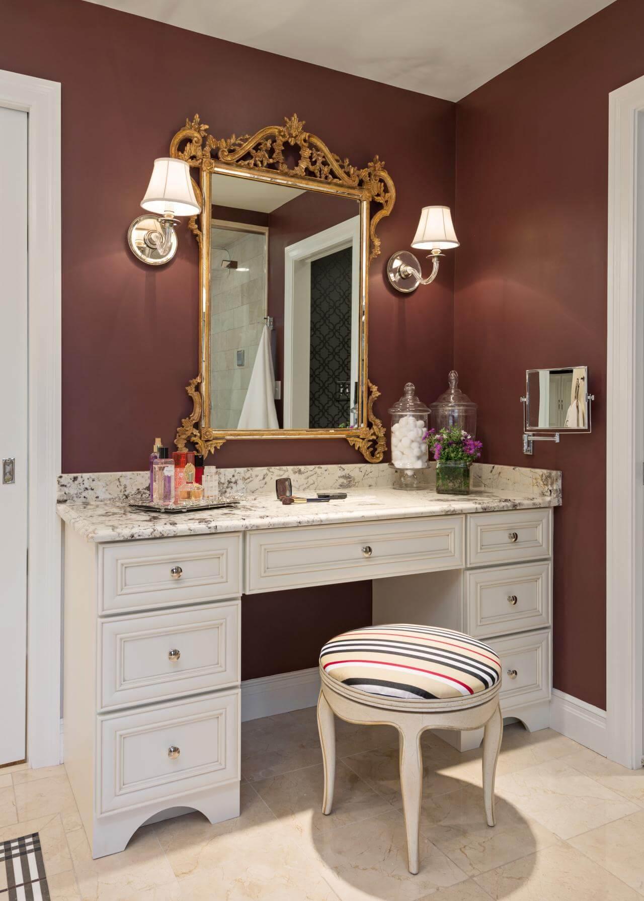 15 Stunning Makeup Vanity Decor Ideas - Style Motivation on Makeup Room Ideas  id=52503