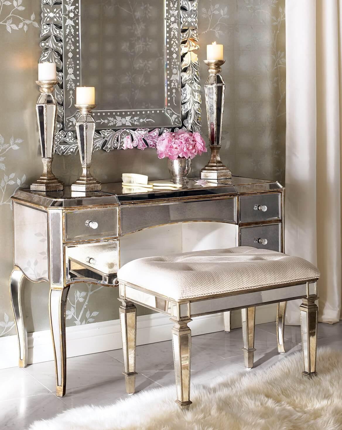 15 Stunning Makeup Vanity Decor Ideas - Style Motivation on Makeup Room Ideas  id=23582