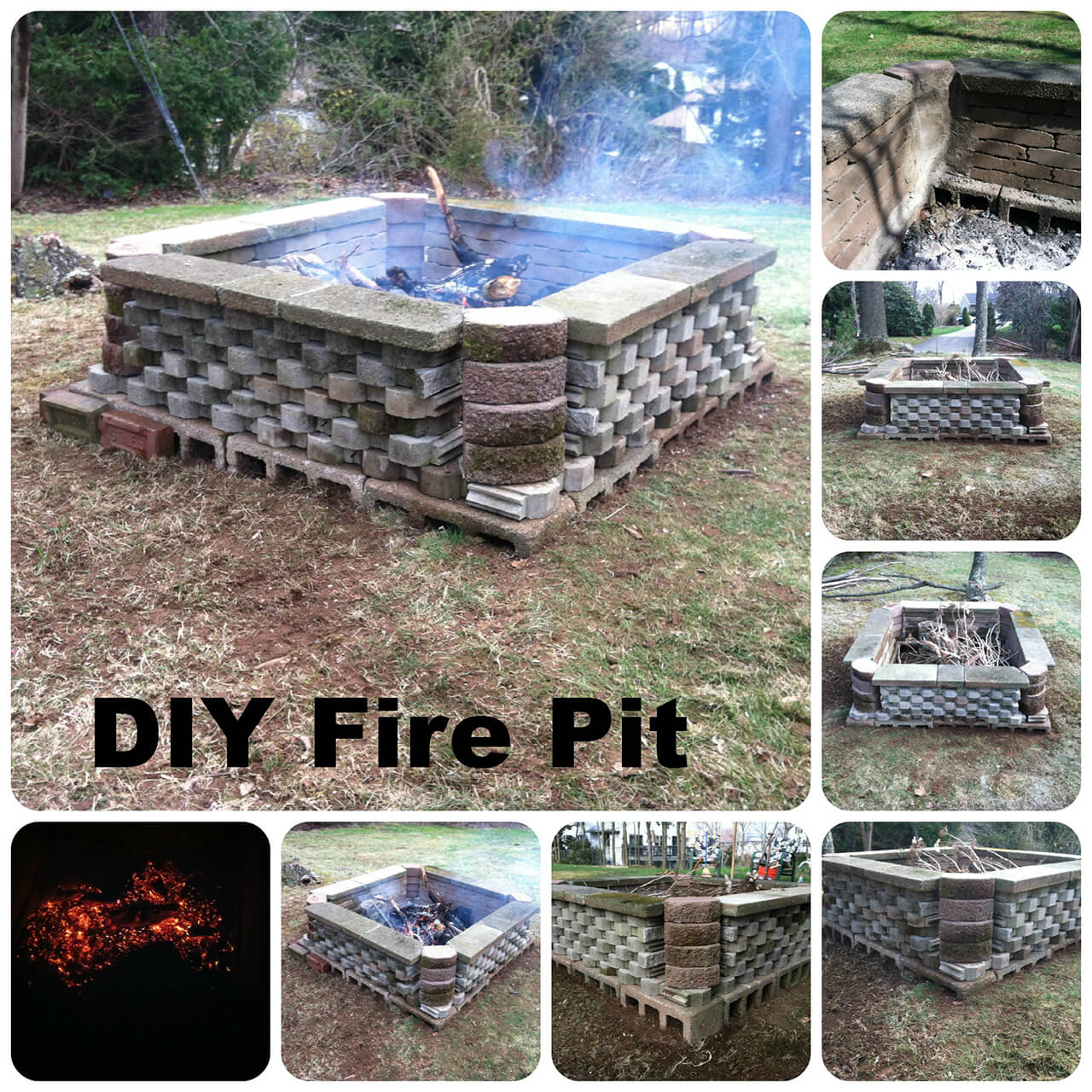 27 Best DIY Firepit Ideas and Designs for 2020 on Cinder Block Fireplace Diy  id=64224