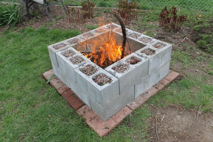 27 Best DIY Firepit Ideas and Designs for 2020 on Simple Cinder Block Fireplace id=49971