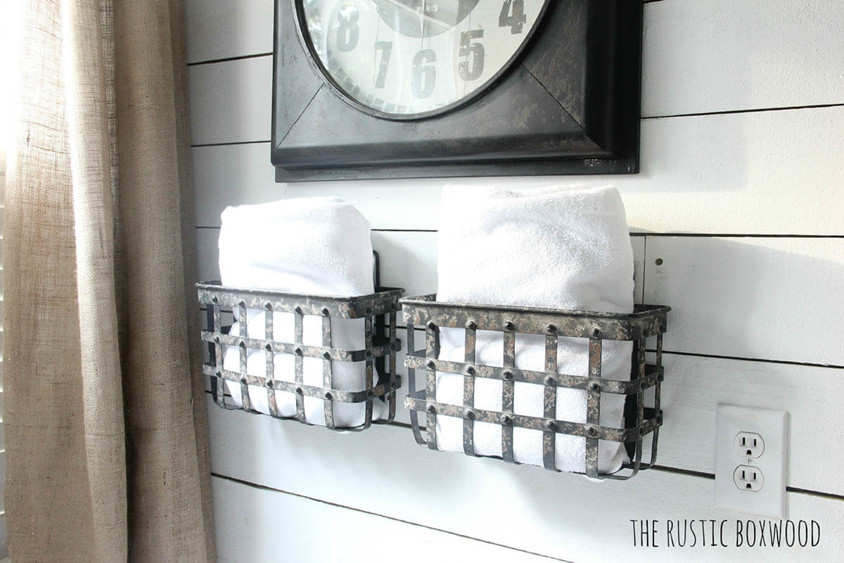 Wall Mounted Metal Baskets For Storage Homebnc