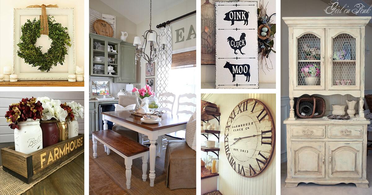 37 Best Farmhouse Dining Room Design and Decor Ideas for 2020 on Dining Room Curtains Farmhouse  id=41772