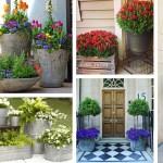 29 Best Front Door Flower Pots Ideas And Designs For 2020