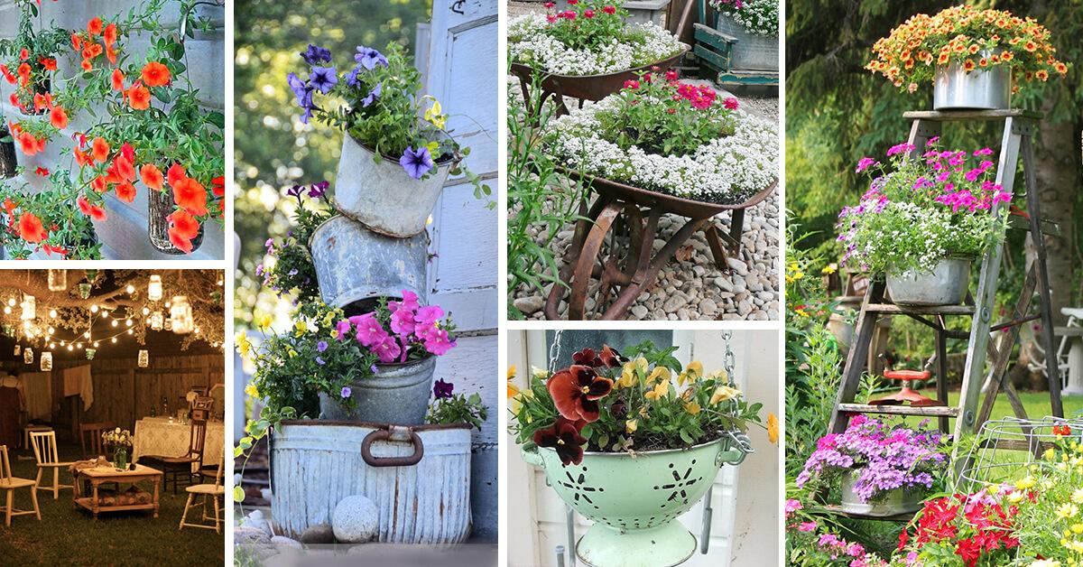 34 Best Vintage Garden Decor Ideas and Designs for 2020 on Garden Decor Ideas  id=47412