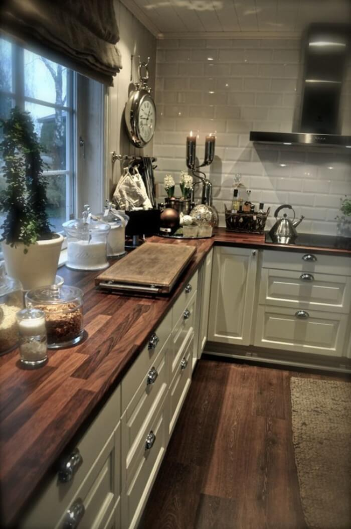 27 Best Rustic Kitchen Cabinet Ideas and Designs for 2020 on Rustic:mophcifcrpe= Cottage Kitchen Ideas  id=72299