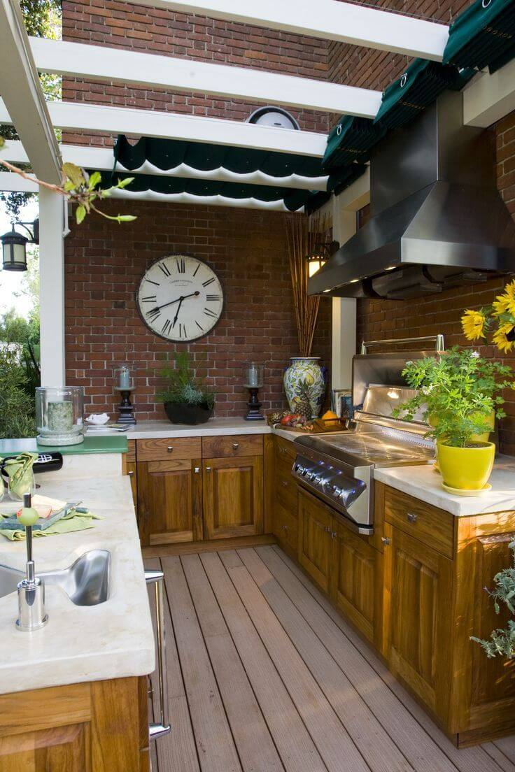 27 Best Outdoor Kitchen Ideas and Designs for 2020 on Backyard Kitchen Design id=93608