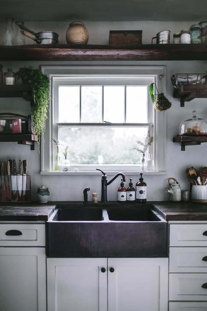 27 Best Rustic Kitchen Cabinet Ideas and Designs for 2020 on Rustic:yucvisfte_S= Farmhouse Kitchen Ideas  id=18051
