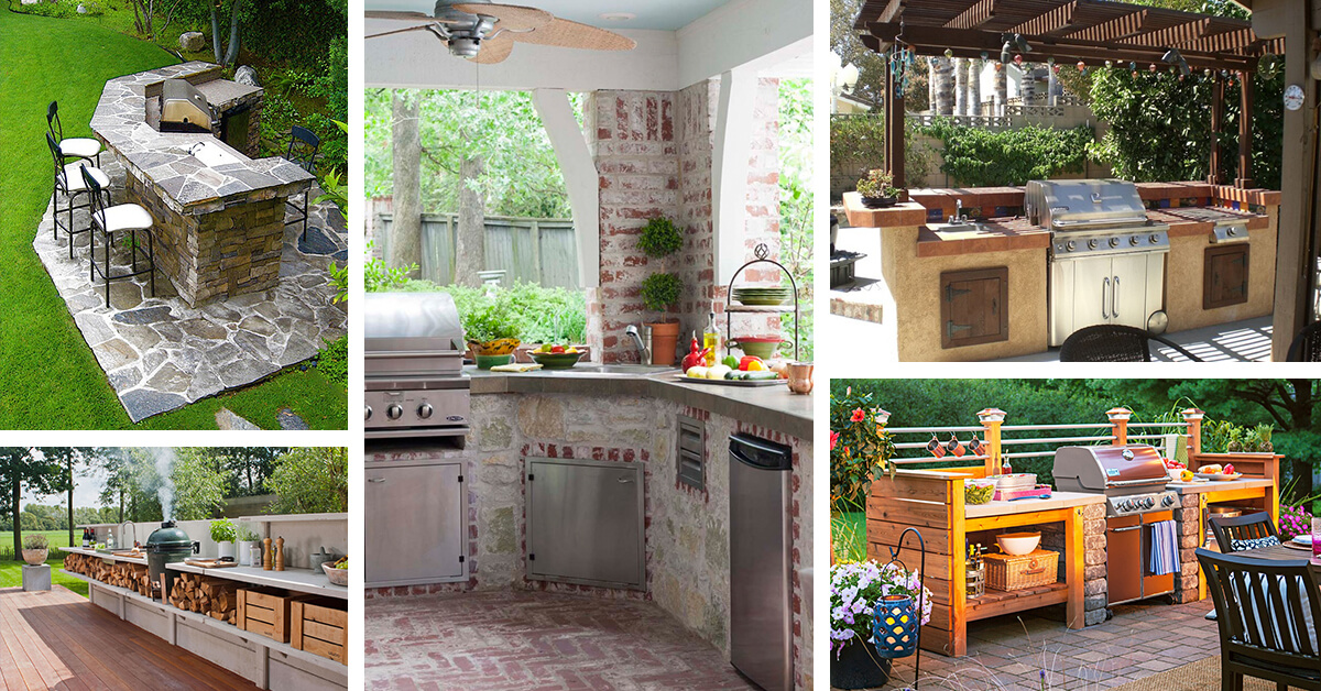 27 Best Outdoor Kitchen Ideas and Designs for 2020 on Backyard Kitchen Design id=36256