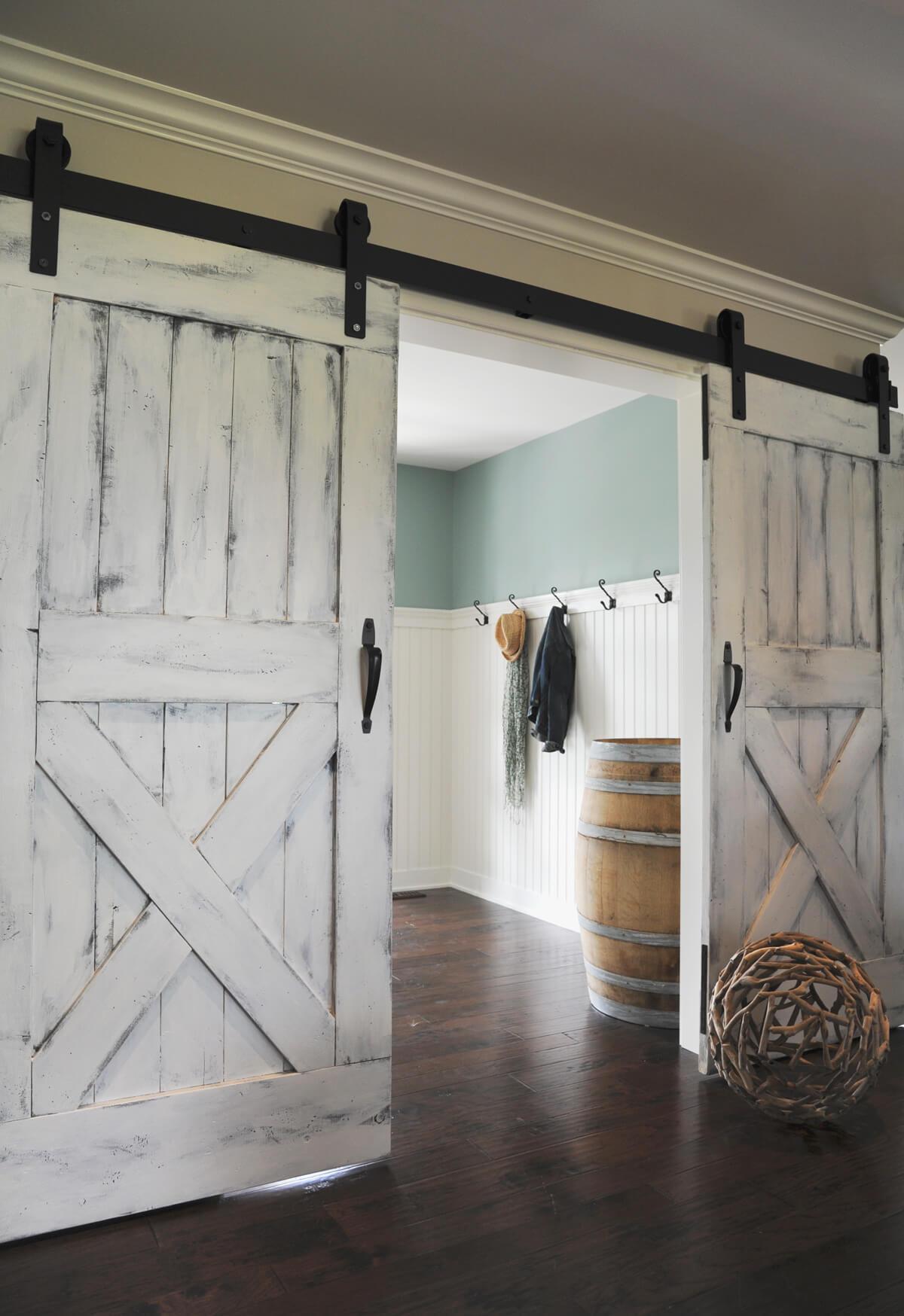 paint it white sliding barn doors