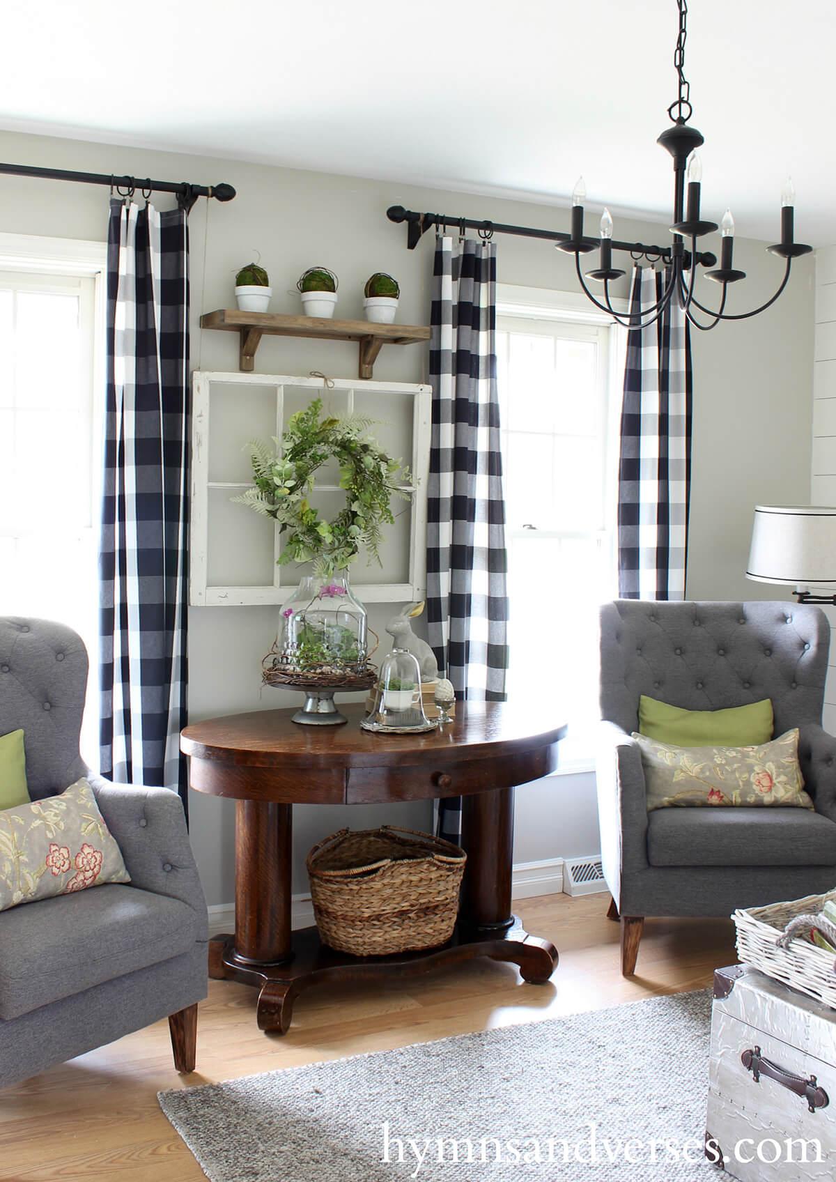 50+ Best Farmhouse Living Room Decor Ideas and Designs for ... on Farmhouse Dining Room Curtain Ideas  id=63990