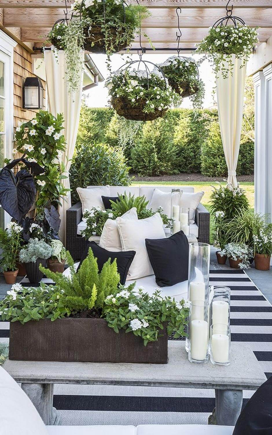 Outdoor Decor: 13 Amazing Curtain Ideas for Porch and ... on Backyard Patio Decorating Ideas id=64366