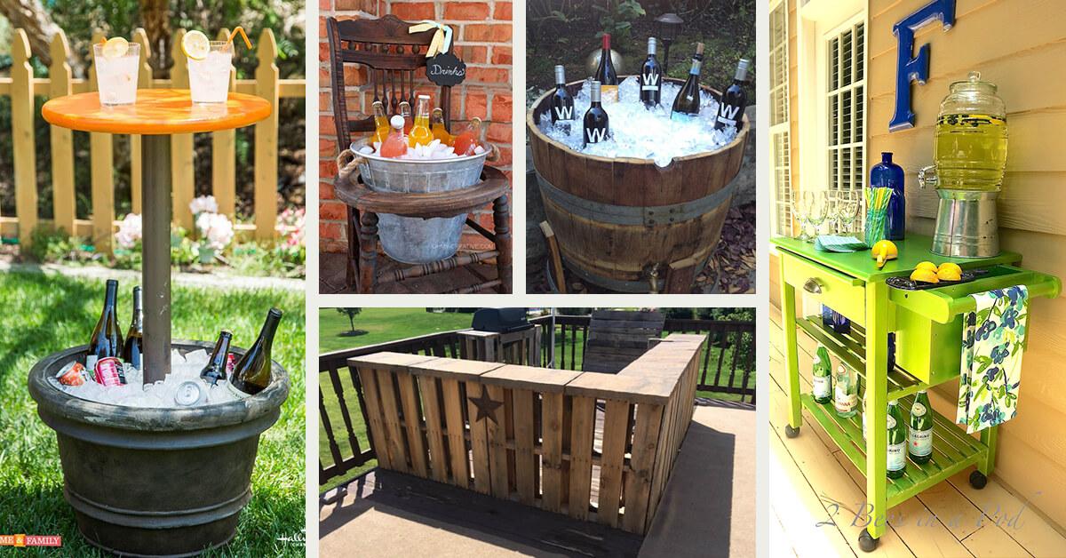 best diy outdoor bar ideas and designs