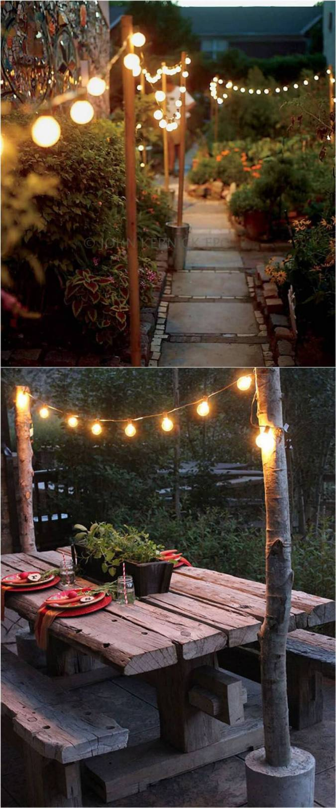 Keep Bare Bulbs Soft for a Rustic Feel