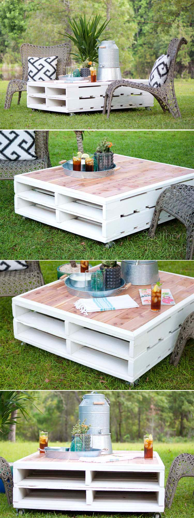 29 Best DIY Outdoor Furniture Projects (Ideas and Designs ... on Diy Garden Patio Ideas id=86394