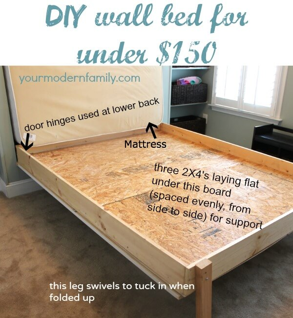 18 Best DIY Murphy Bed Ideas and Designs for 2021 on Bed Ideas For Small Rooms  id=35201