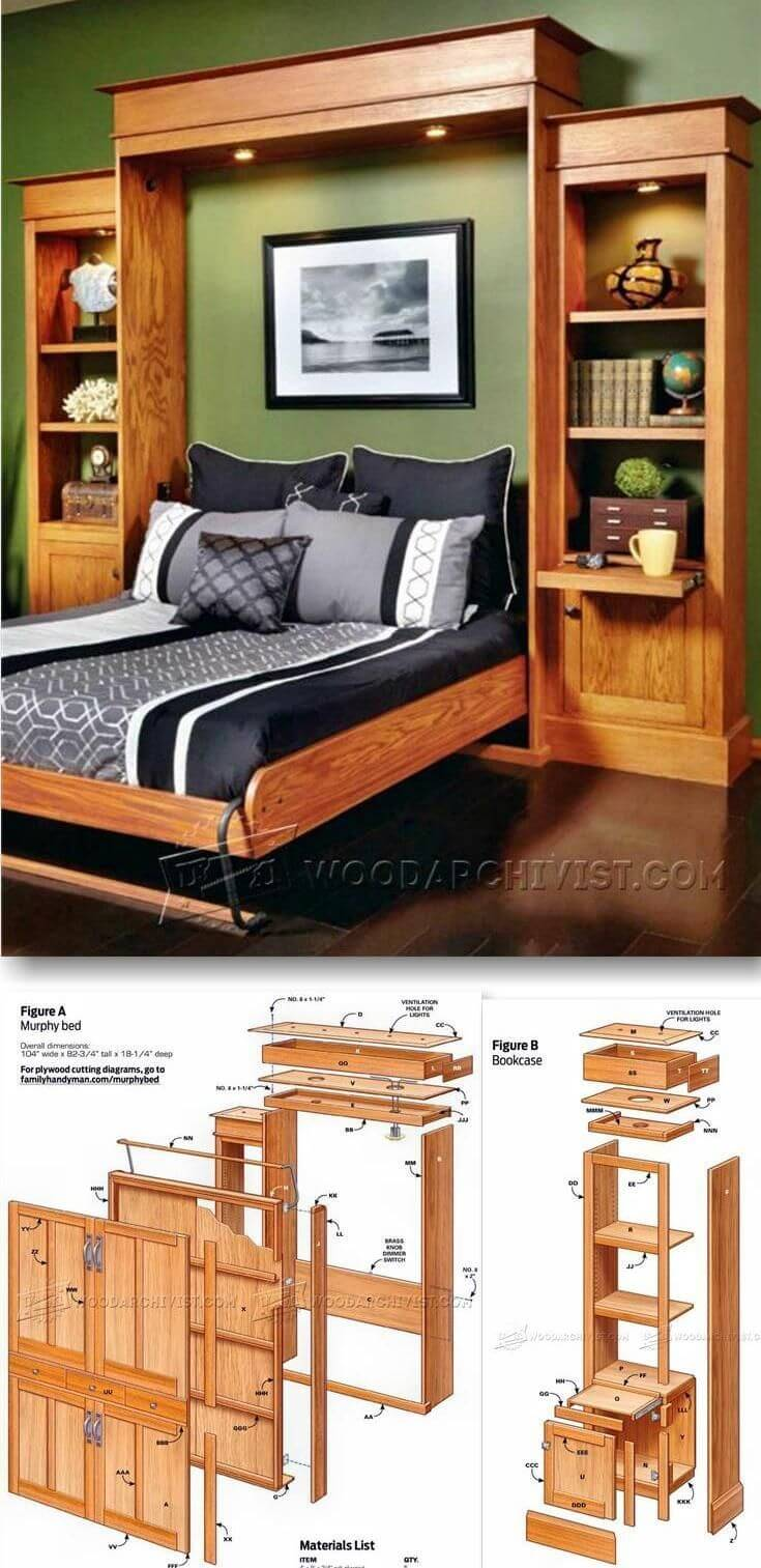 18 Best Diy Murphy Bed Ideas And Designs For 2019