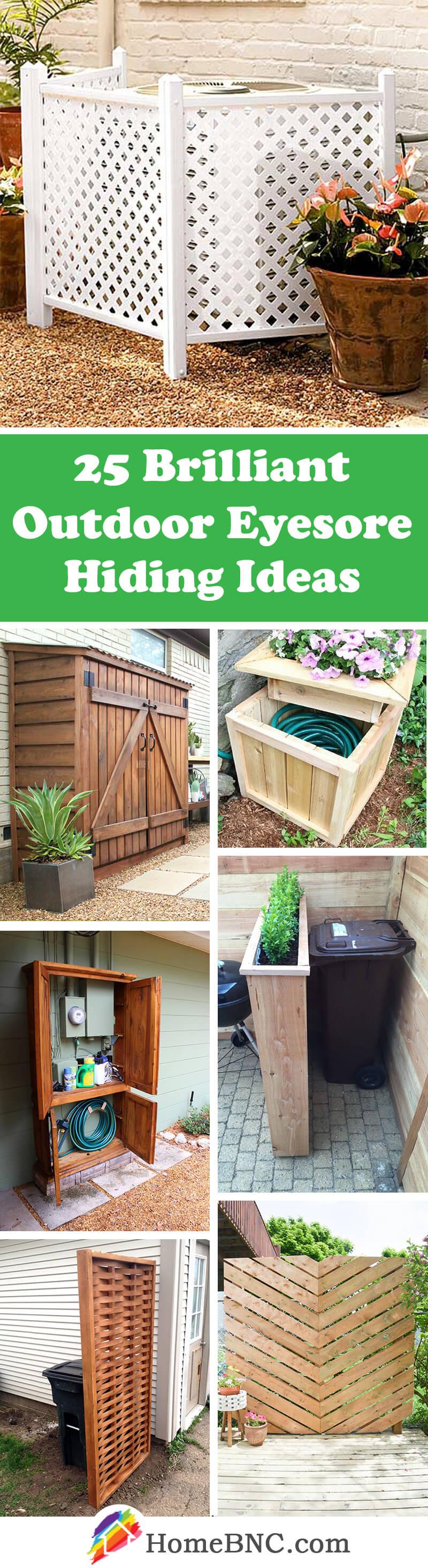 25 best outdoor eyesore hiding ideas