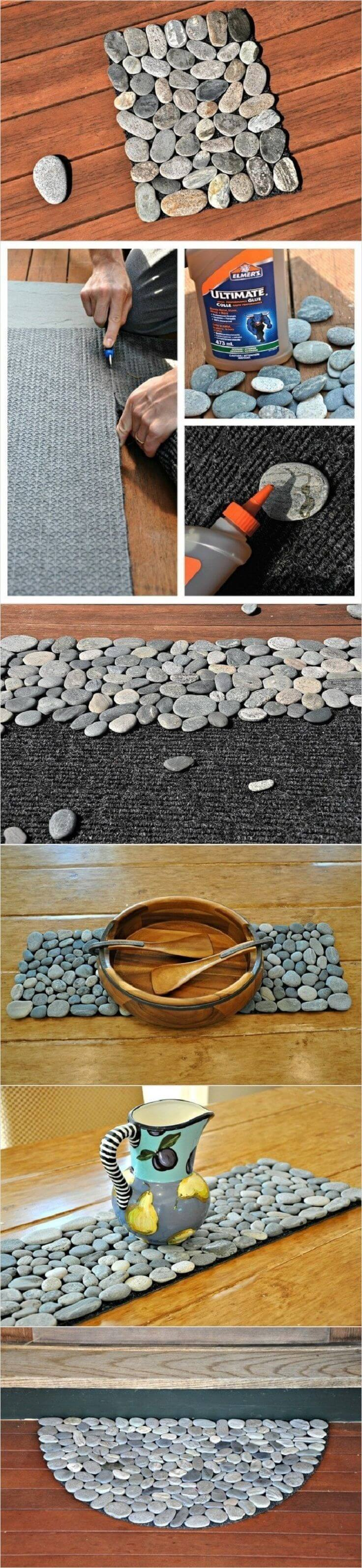 27 Best DIY Pebble and River Rock Decor Ideas and Designs ... on Rock Decorating Ideas  id=64406