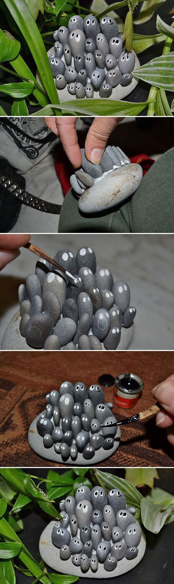 27 Best DIY Pebble and River Rock Decor Ideas and Designs ... on Rock Decorating Ideas  id=81776