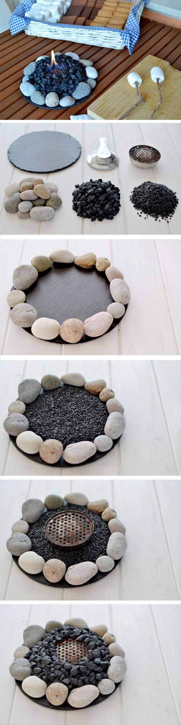 27 Best DIY Pebble and River Rock Decor Ideas and Designs ... on Rock Decorating Ideas  id=32192