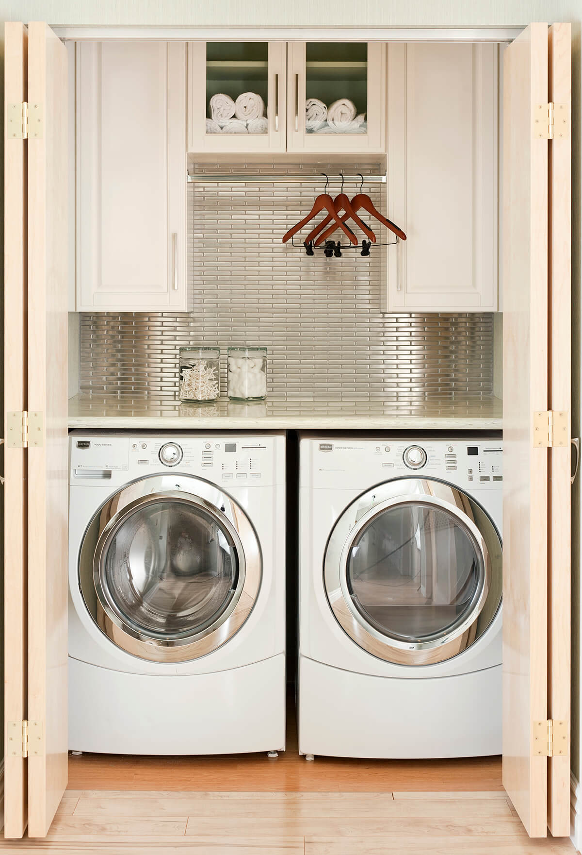 28 Best Small Laundry Room Design Ideas for 2020 on Small Laundry Room Cabinets  id=49639