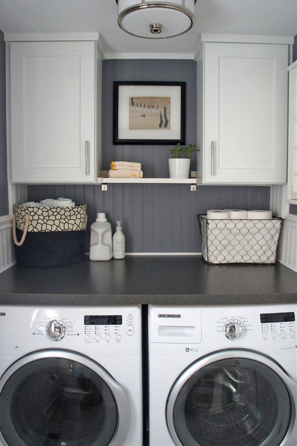 28 Best Small Laundry Room Design Ideas for 2020 on Laundry Room Decor Ideas  id=48207