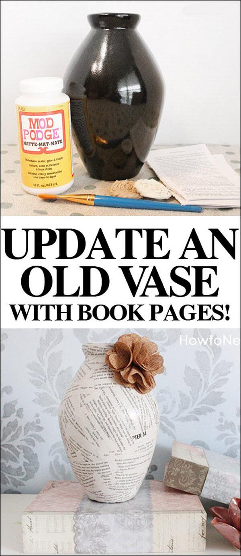 Manualidades con libros viejos