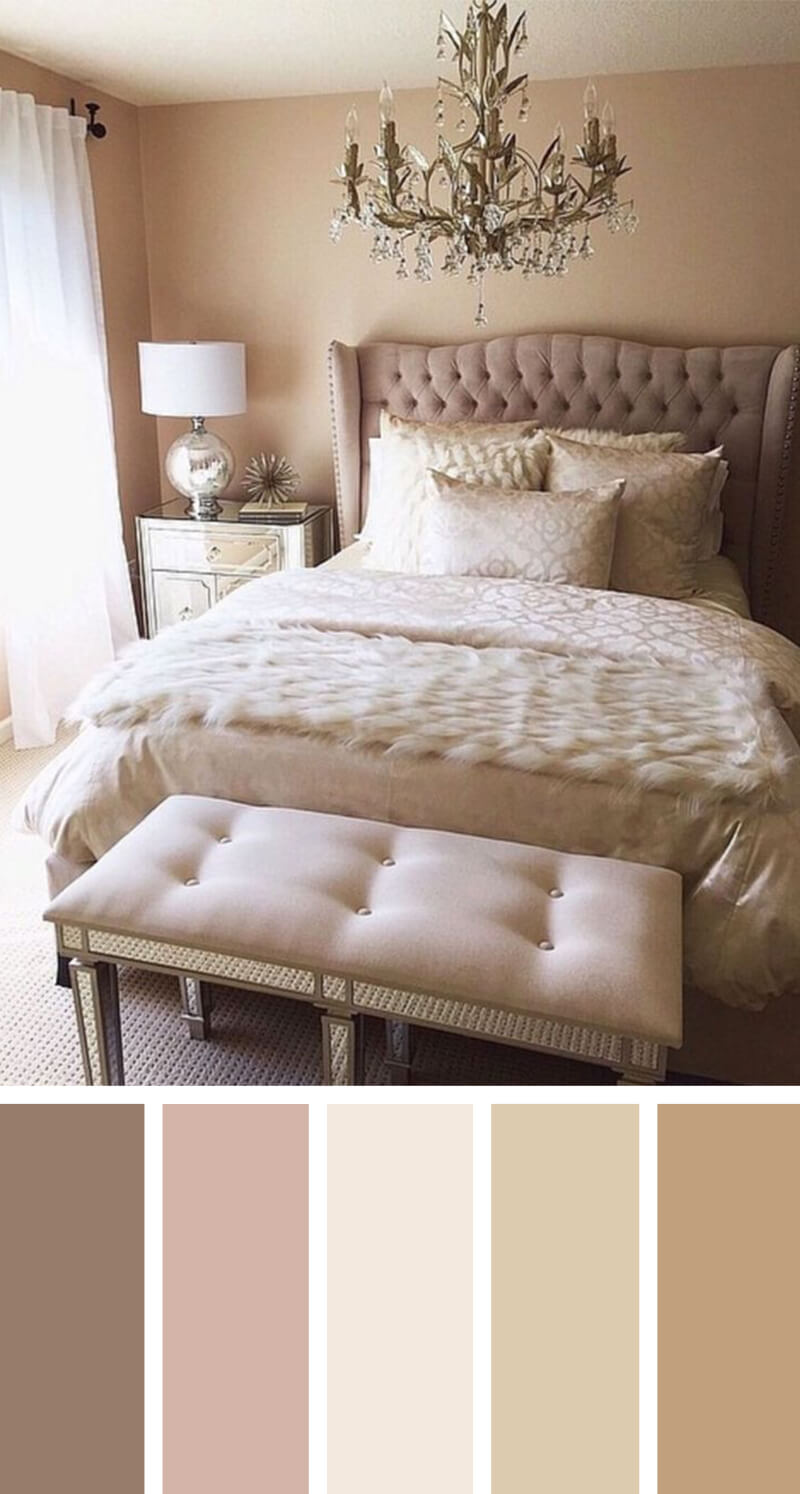 12 Best Bedroom Color Scheme Ideas and Designs for 2018 Perfect Nude Bedroom Color Scheme Ideas