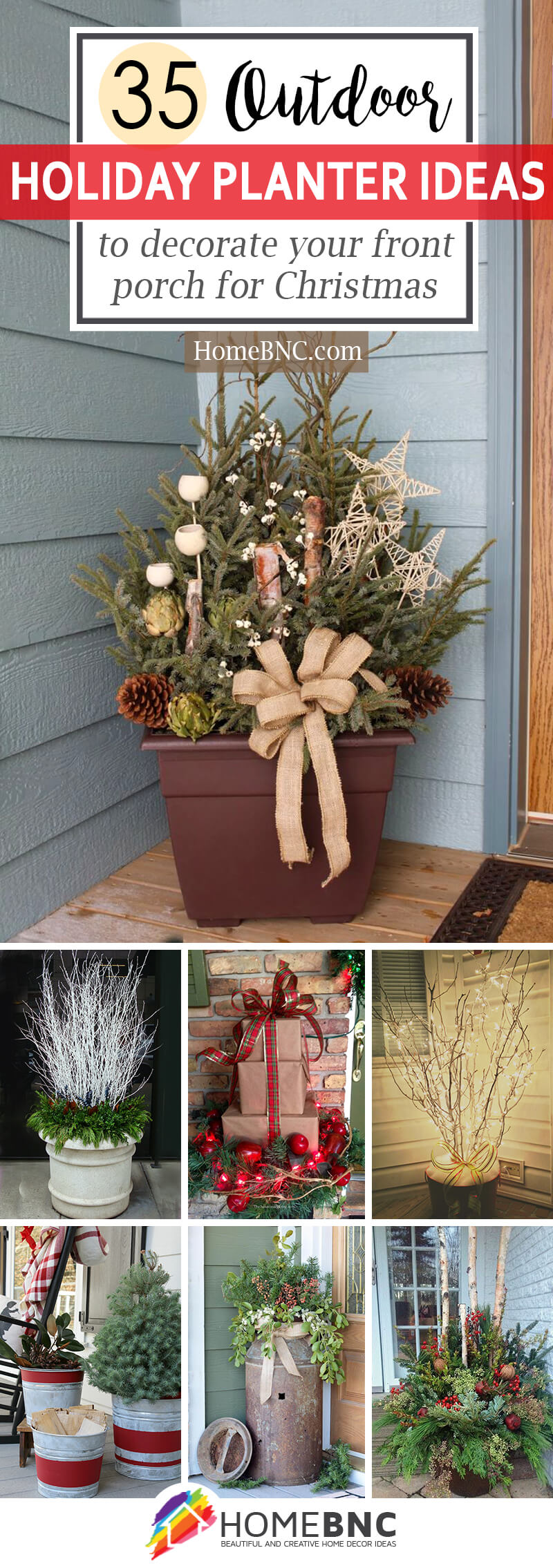 How To Decorate Front Porch Planters For Christmas