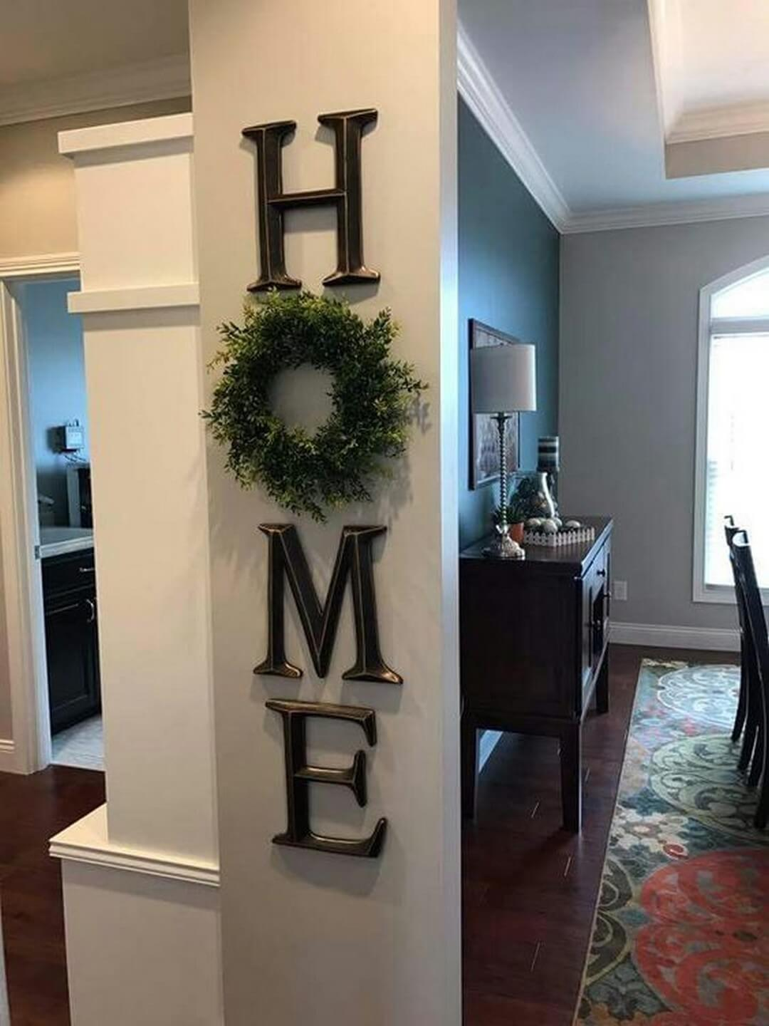 45+ Best Farmhouse Wall Decor Ideas and Designs for 2020 on Wall Decoration  id=13699