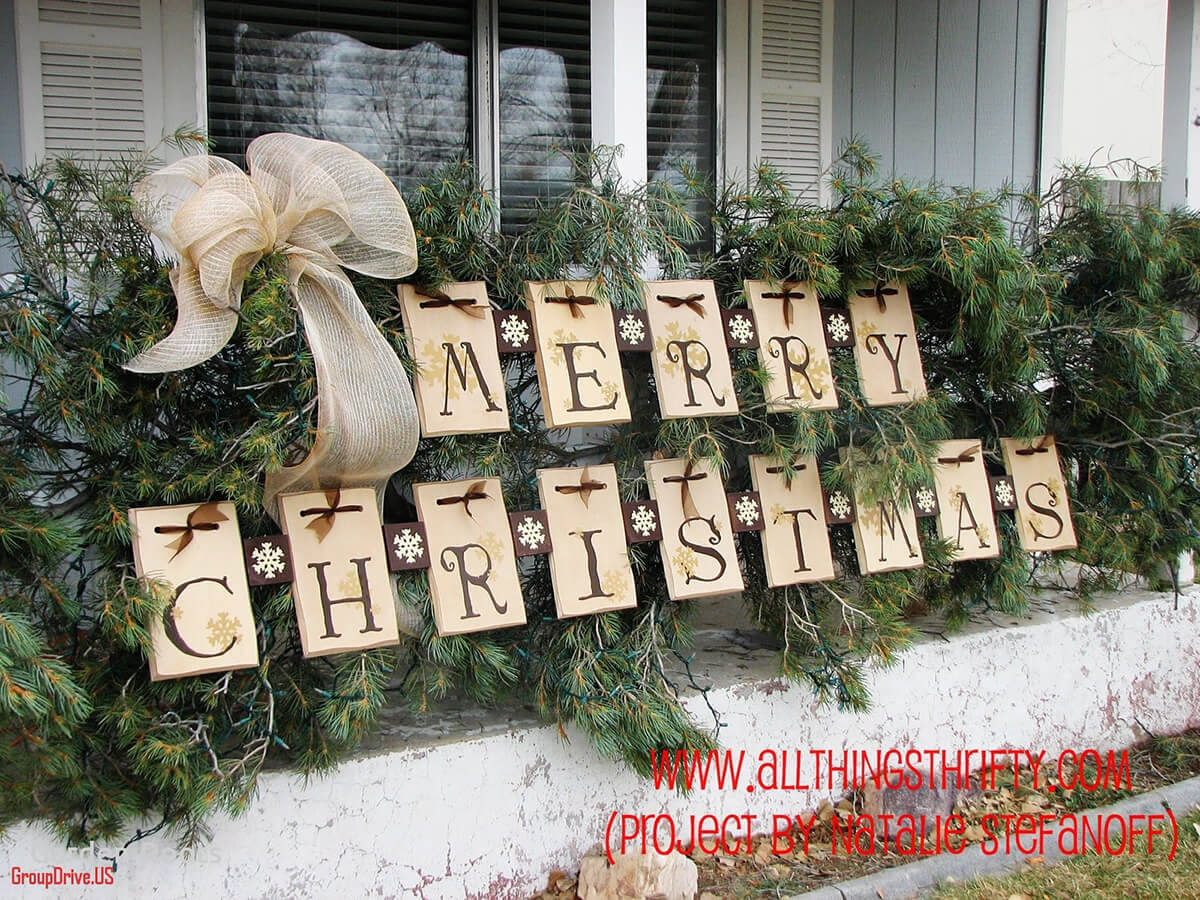 35+ Best Christmas DIY Outdoor Decor Ideas and Designs for ... on Lawn Decorating Ideas id=99266