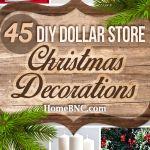 45 Best Diy Dollar Store Christmas Decor Craft Ideas For 2021