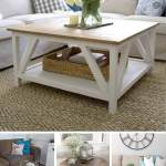 25 Best Diy Farmhouse Coffee Table Ideas And Designs For 2020