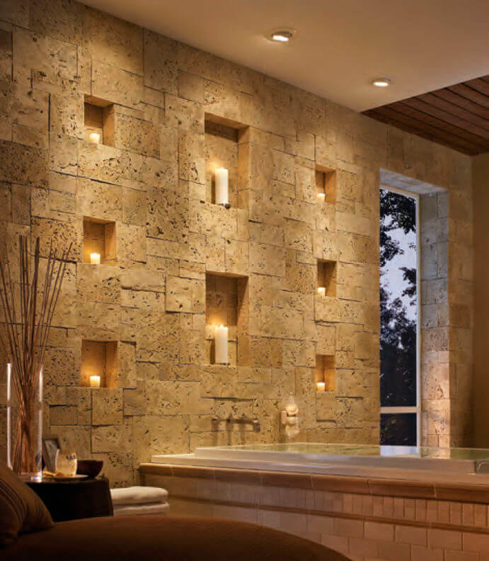 33 Best Interior Stone Wall Ideas and Designs for 2018 Egyptian Revival Sophistication with Stone Insets