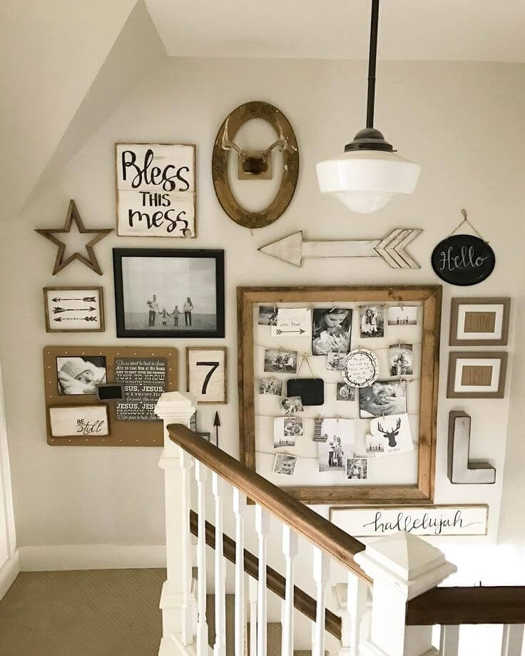 28 Best Stairway Decorating Ideas And Designs For 2020 | Staircase Landing Wall Design | Rural | Foot Stair | Pinterest | Interior | Wood Handrail Pasted