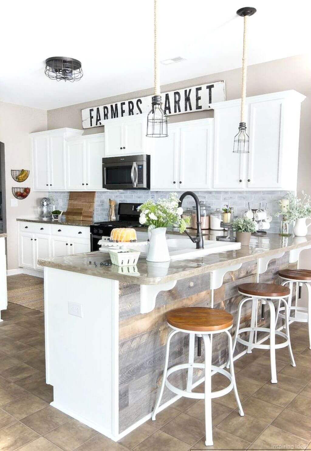 35 Best Farmhouse Kitchen Cabinet Ideas and Designs for 2020 on Farmhouse Kitchen Ideas  id=93236
