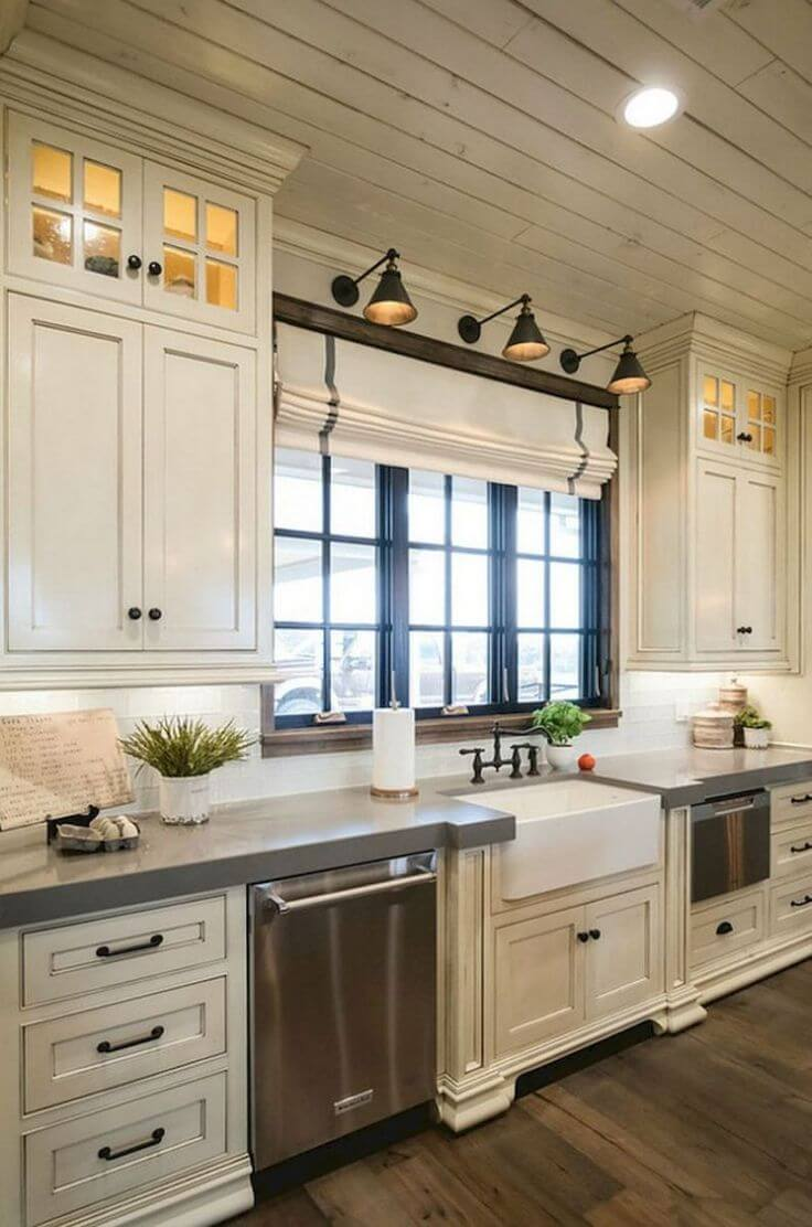35 Best Farmhouse Kitchen Cabinet Ideas and Designs for 2020 on Farmhouse Kitchen Ideas  id=73287