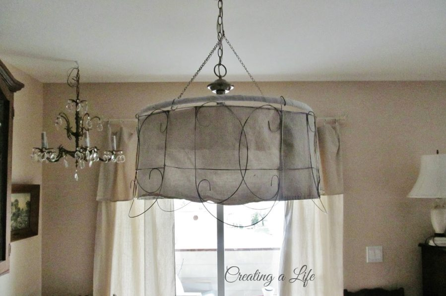 36 Best Farmhouse Lighting Ideas and Designs for 2018 Decorative Wire Pendant Light With Burlap Lining