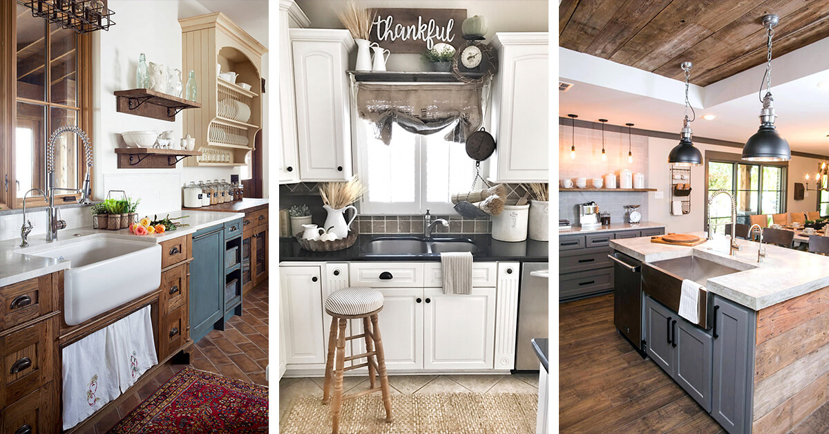 35 Best Farmhouse Kitchen Cabinet Ideas and Designs for 2020 on Farmhouse Kitchen Ideas  id=22749