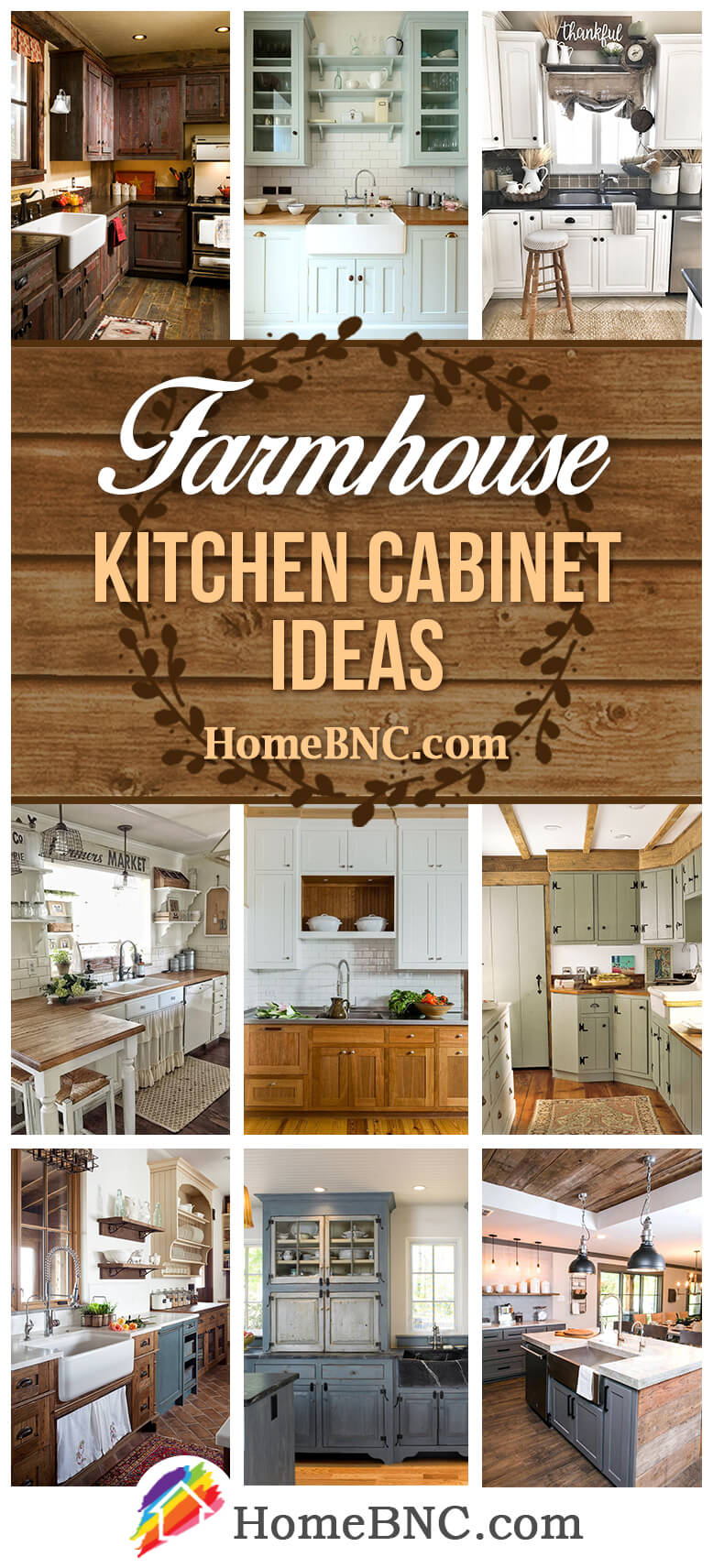 35 Best Farmhouse Kitchen Cabinet Ideas and Designs for 2020 on Farmhouse Kitchen Counter Decor Ideas  id=39044