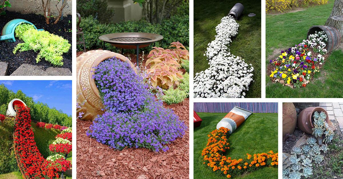 Flower Beds Mulch And Flower Pots