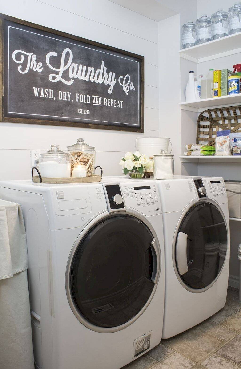60 Best Farmhouse Laundry Room Decor Ideas and Designs for ... on Laundry Decoration  id=56931