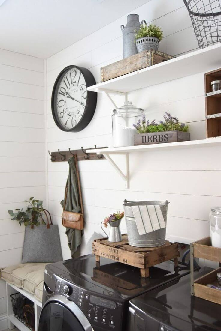 60 Best Farmhouse Laundry Room Decor Ideas and Designs for ... on Laundry Decoration  id=83621