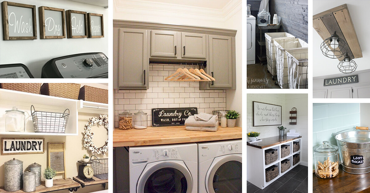 60 Best Farmhouse Laundry Room Decor Ideas and Designs for ... on Laundry Room Decor  id=74166